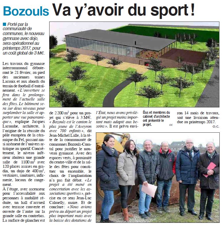 article gymnase